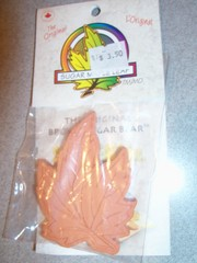 Brown Sugar Bear Saver and Softener, Terracotta, Maple Leaf